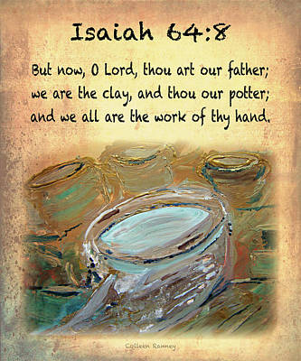 The Potter Bible Verses Art Print