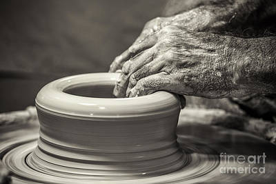 The Potter's Hands Art Print