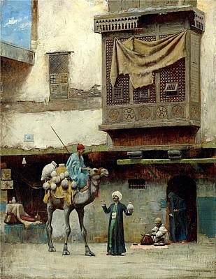 Pottery Painting - The Pottery Seller In Old City by Charles Sprague