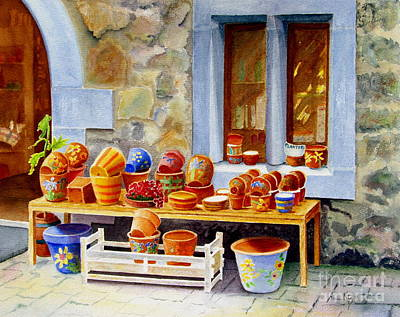 Painting - The Pottery Shop by Karen Fleschler
