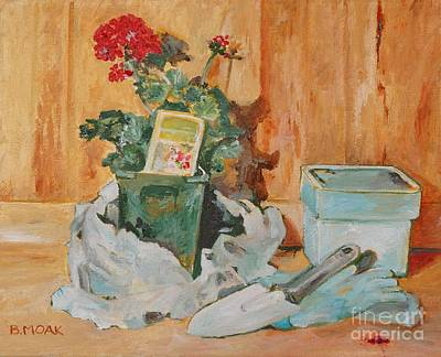 Potting Painting - The Potting Bench by Barbara Moak