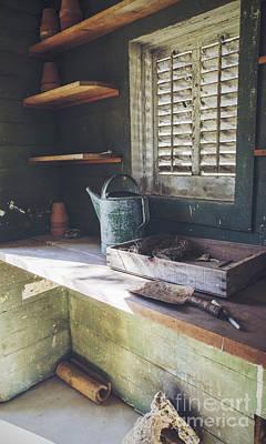 Photograph - The Potting Shed II by Debra Fedchin