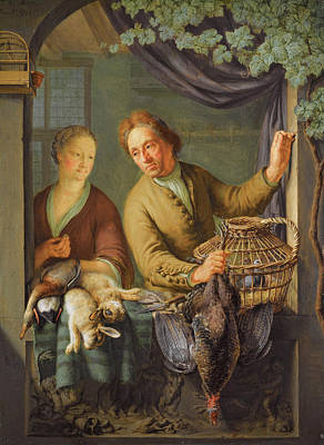 Painting - The Poulterer by Frans van Mieris the Younger