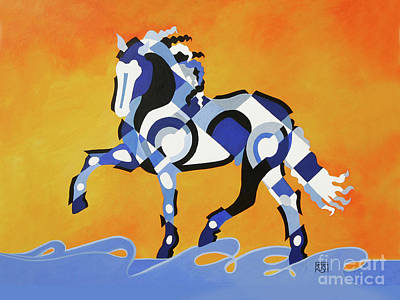Painting - The Power Of Equus by Barbara Rush