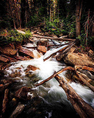 Photograph - The Power Of Nature - Little Cottonwood Creek by TL Mair