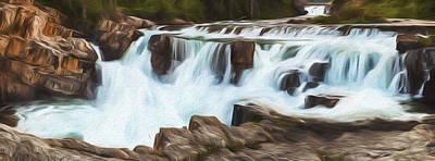 Digital Art - The Power Of The Falls II by Jon Glaser