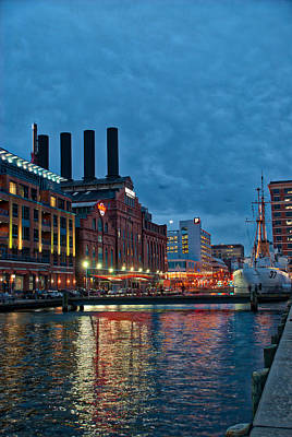 Inner Harbor Photograph - The Power Plant And Taney by Mark Dodd