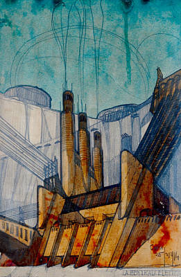 Drawing - The Power Station  by Antonio Sant'Elia