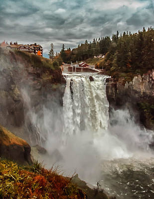 Photograph - The Powerful Snoqualmie Falls by Kevin McClish