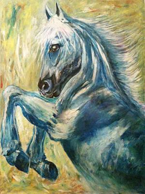 Power Animal Painting - The Powerful Stride by Rashmi Rao