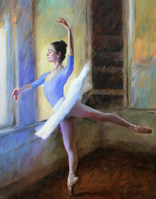 Dance Ballet Roses Painting - The Practice Tutu by Anna Rose Bain