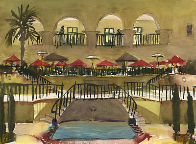 Painting - The Prado Restaurant by Brian Meyer