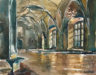 Painting - The Prague Castle by Anna Lobovikov-Katz