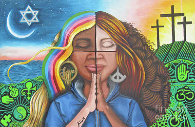 Painting - The Prayer by Alima Newton