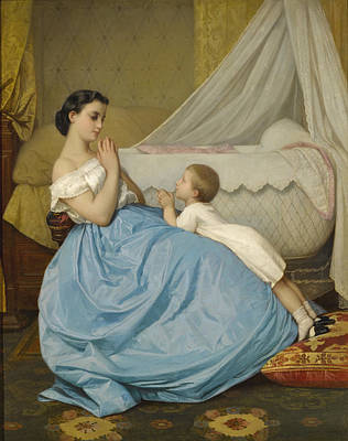 Painting - The Prayer by Auguste Toulmouche