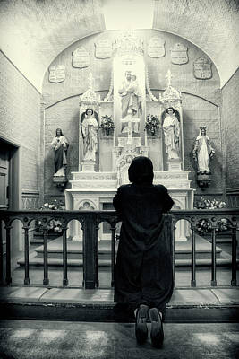 Photograph - The Prayer Bw Series 0175 by Carlos Diaz