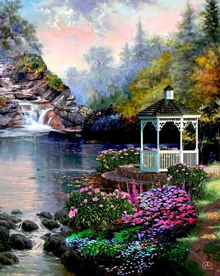 Painting - The Prayer Garden by Ron Chambers