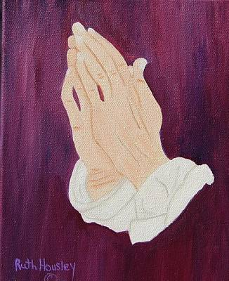 The Praying Hands Art Print by Ruth  Housley