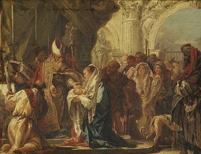 Painting - The Presentation In The Temple by Giovanni Domenico Tiepolo