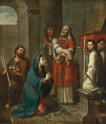 Painting - The Presentation Of Jesus At The Temple by Miguel Cabrera