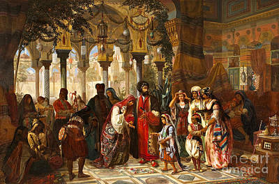Syria Painting - The Presentation Of The Bride To The Court Of Syria In Damascus by MotionAge Designs