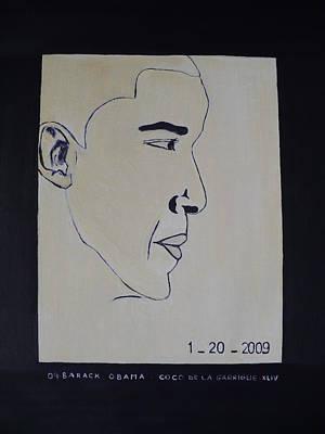 The President Barack Obama. Art Print by Bucher