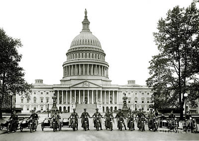 Harley Davidson Photograph - The Presidents Club by Jon Neidert