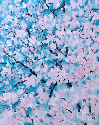 Painting - The Pretty Blooming by Wonju Hulse