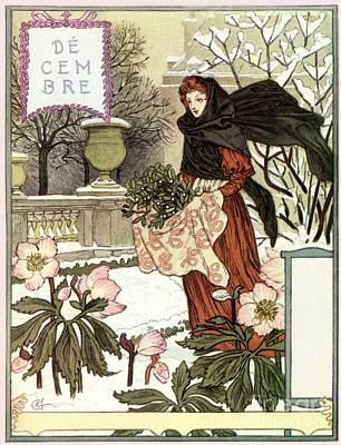 Belle Epoque Digital Art - The Pretty Woman Gardener By Grasset by Aapshop