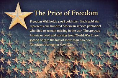 Fathers Office Photograph - The Price Of Freedom by Marianna Mills