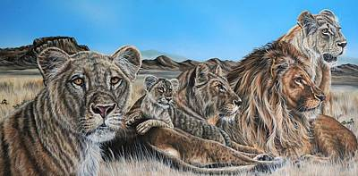 Painting - The Pride by Katie McConnachie