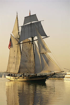 Baltimore Inner Harbor Photograph - The Pride Of Baltimore Clipper Ship by George Grall