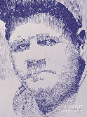 Babe Ruth Drawing - The Pride Of The Yankees by Robbi  Musser