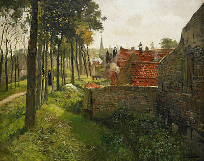 Painting - The Priest  by Frits Thaulow