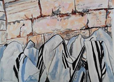 Painting - The Priestly Blessing by Esther Newman-Cohen