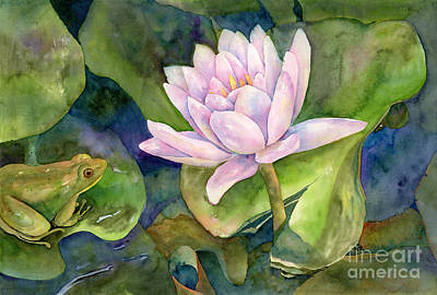 Lilies Royalty-Free and Rights-Managed Images - The Prince of Peace Pond by Amy Kirkpatrick