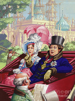Royal Painting - The Prince Regent Visits The Royal Pavilion At Brighton by Pat Nicolle