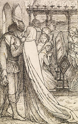 The Prince's Progress Art Print by Dante Gabriel Rossetti