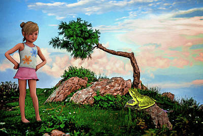 Digital Art - The Princess And The Frog by John Haldane