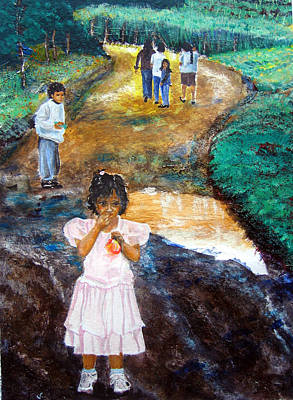 Painting - The Princess And The Puddle by Sarah Hornsby