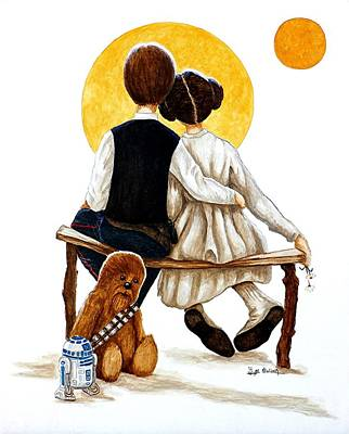 Painting - The Princess And The Scoundrel by Al  Molina