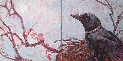 Crows Mixed Media - The Princess At Home In Her Parlor by Tracie Thompson