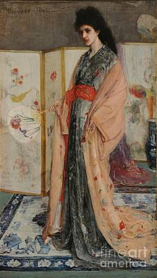 Whistler Painting - The Princess From The Land Of Porcelain by James Abbott McNeill Whistler
