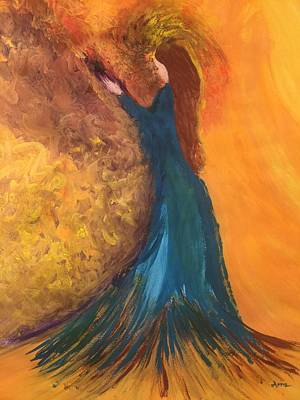 Painting - The Princess in the Peacock by Arna Vodenos