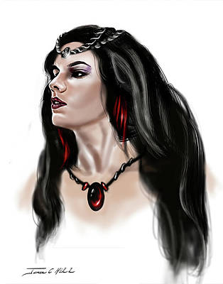 The Princess Morgana Art Print by James Christopher Hill