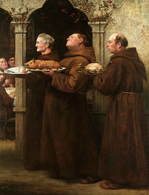 The Prior's Feast Art Print by William Strutt