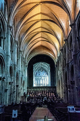 Photograph - The Priory Choir - Christchurch, Dorset, Uk by Phyllis Taylor