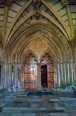 Photograph - The Priory - Christchurch, Uk - Entrance Doors by Phyllis Taylor