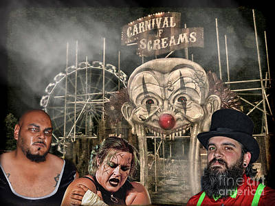 Hat Photograph - The Pro Wrestling Team Known As The Creepy Show Carnival  by Jim Fitzpatrick