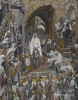 Disciples Painting - The Procession In The Streets Of Jerusalem by Tissot